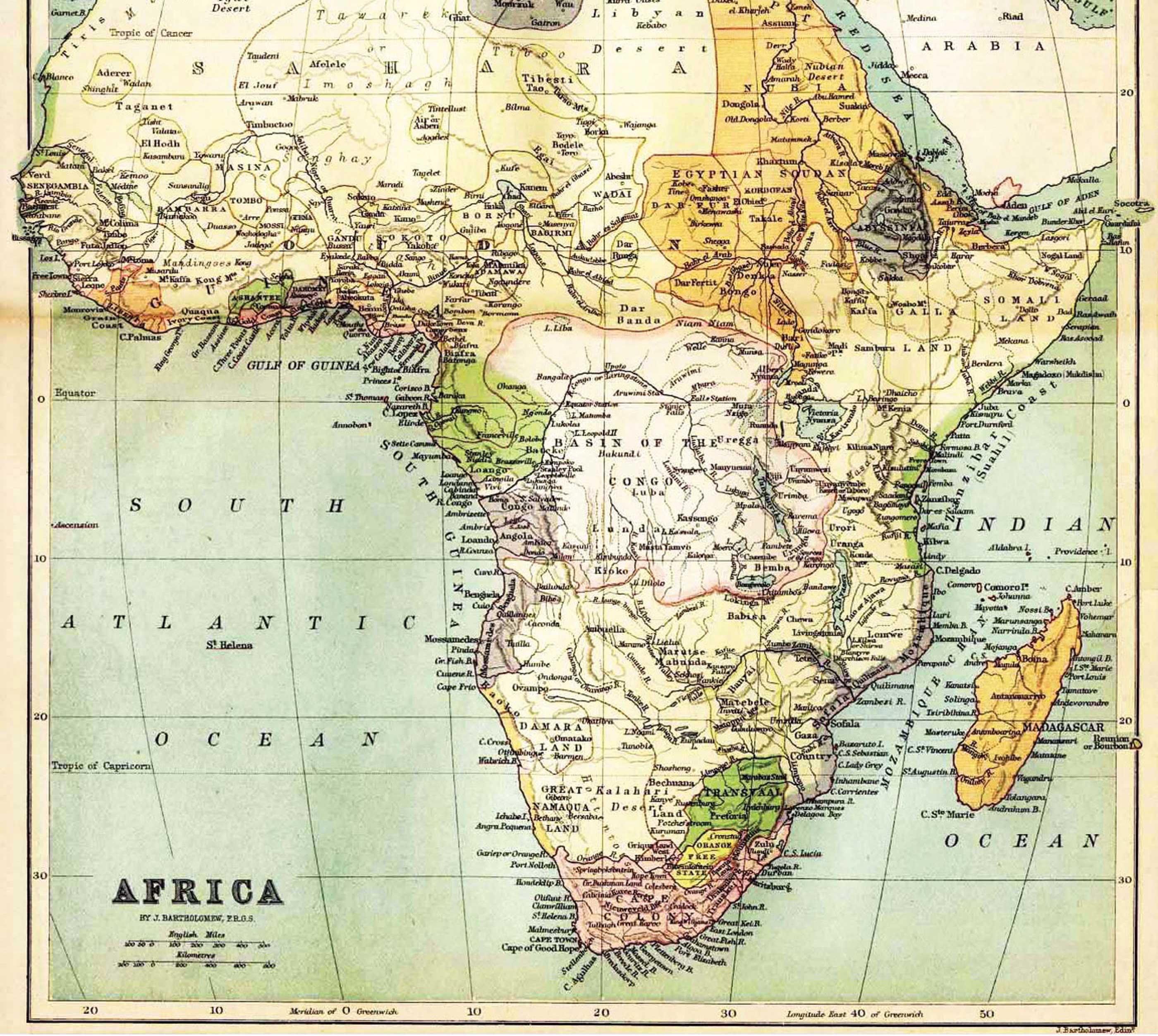 africa map kanye